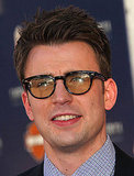 Chris Evans wore yellow-tinted glasses.