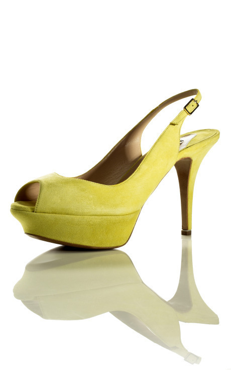Acid Yellow Slingback, $595