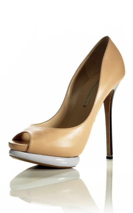 Color Block Platform Pump, $895