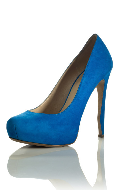 Electric Blue Pump, $695