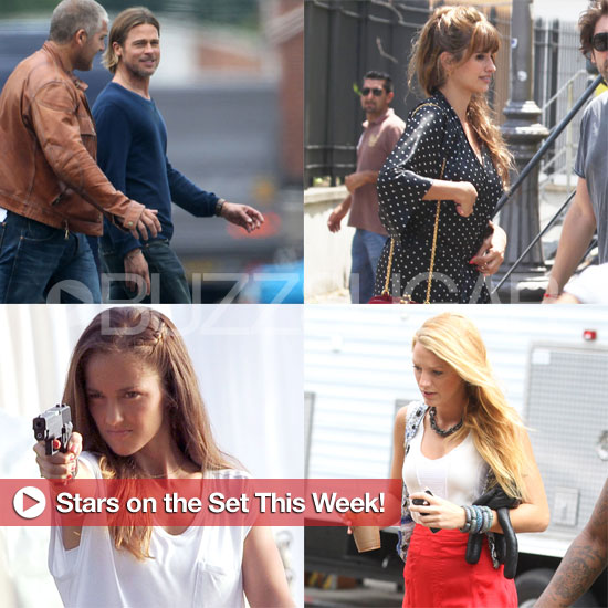 Brad Pitt, Penelope Cruz, Blake Lively, and More Stars on Set This Week!