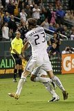 David Beckham plays with the LA Galaxy.