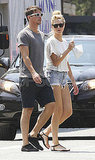 Josh Hartnett and Sophia Lie wore cutoff shorts.