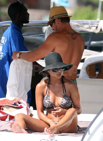 Nick Lachey and Vanessa Minnillo honeymoon in St. Barts.