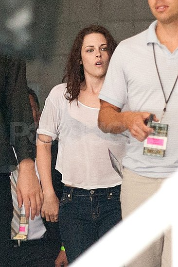 Kristen Stewart arrives at Comic-Con.