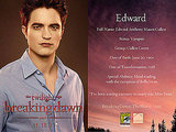 Edward,Bella &amp; Jacob&#039;s Comic Con Promotional Cards - From The Breaking Dawn Promoshoot