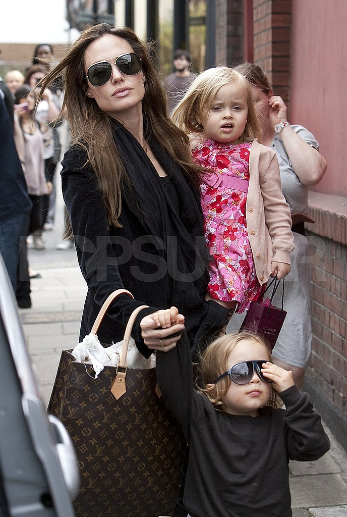 Angelina Jolie Takes Vivienne and Knox to the Movies!