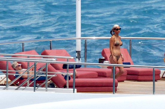 Catherine Zeta-Jones hit the deck of a yacht in her bikini off the coast of ...