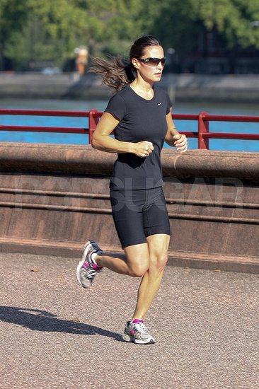 Pippa Middleton runs on London.