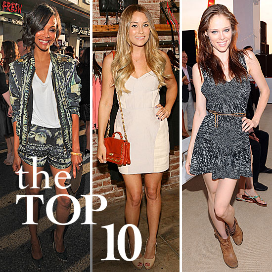 Fab's Top 10 Celebrity Looks of the Week — Zoe, Lauren, Coco, and More!