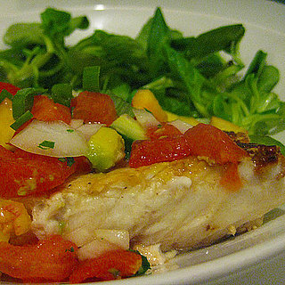 Cod With Tomato Peach Salsa Recipe