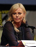 Charlize Theron talked with the Comic-Con crowd.