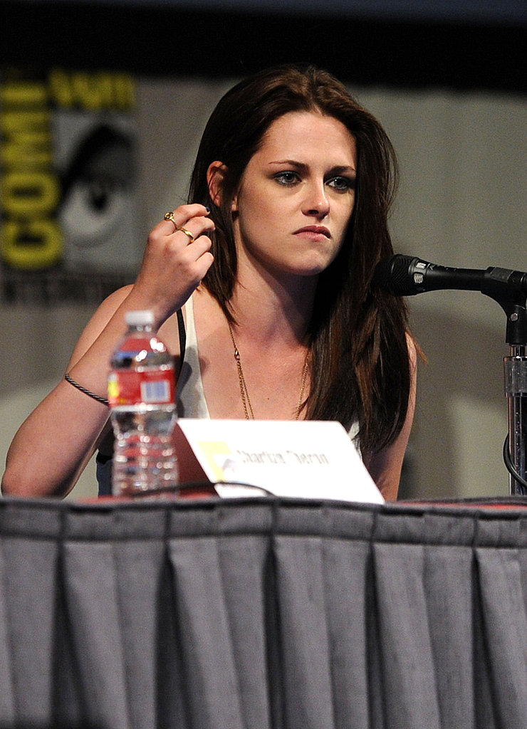 Kristen Stewart talked about Snow White and the Huntsman.