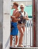 Julianne Hough wears a bikini in Miami with brother Derek.