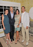 Jessica Seinfeld and Delphine Krakoff with Reed Krakoff and Jerry Seinfeld at a Baby Buggy party.