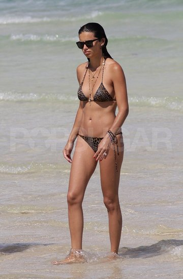 Adriana Lima in a bikini in Miami.