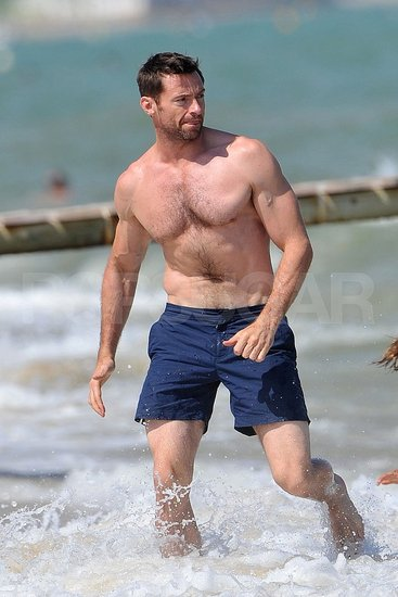 Hugh Jackman Makes a Shirtless Scene on the Beach in St. Tropez!