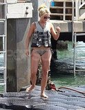 Julianne Hough in a life vest.