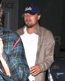 Leonardo DiCaprio leaves a Stevie Wonder concert.