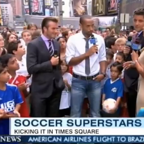 Video of David Beckham on Good Morning America Talking About His Sons and Baby Harper
