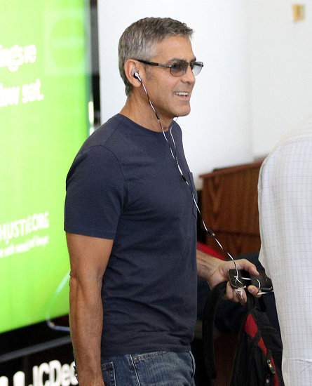 George Clooney looking handsome.