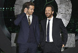 Ryan Reynolds and Peter Sarsgaard got silly on the green carpet.