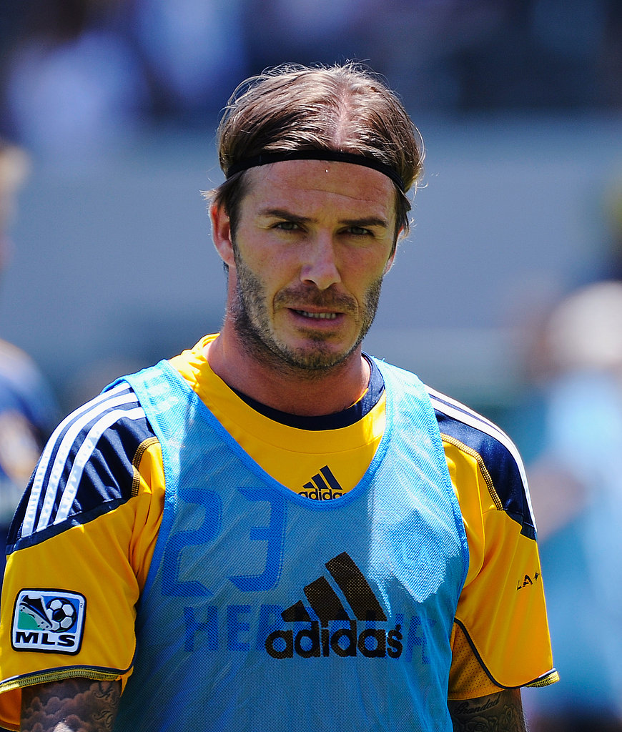 David Beckham suited up with the LA Galaxy.