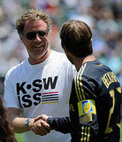 Will Ferrell shook David Beckham's hand.