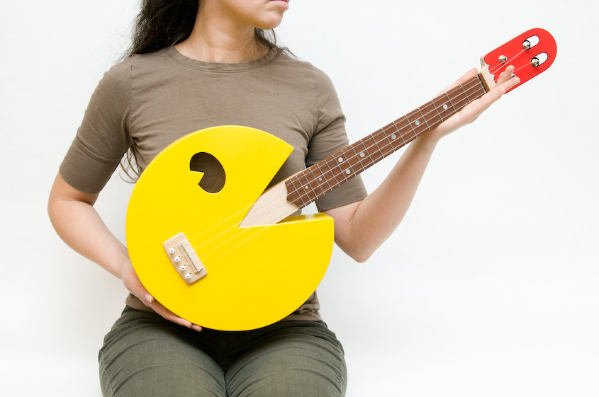 Pac-Man Ukulele Won't Eat Your Sheet Music