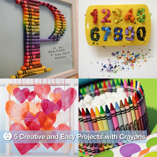 creative and easy crafts with crayons popsugar moms