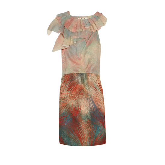 Marni Pleated-Ruffle Dress, $1,915