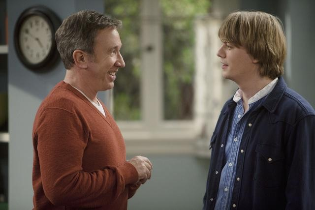 Christoph Sanders and Tim Allen in ABC&#039;s Last Man Standing.