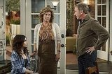 Alexandra Krosney, Nancy Travis and Tim Allen in ABC&#039;s Last Man Standing.