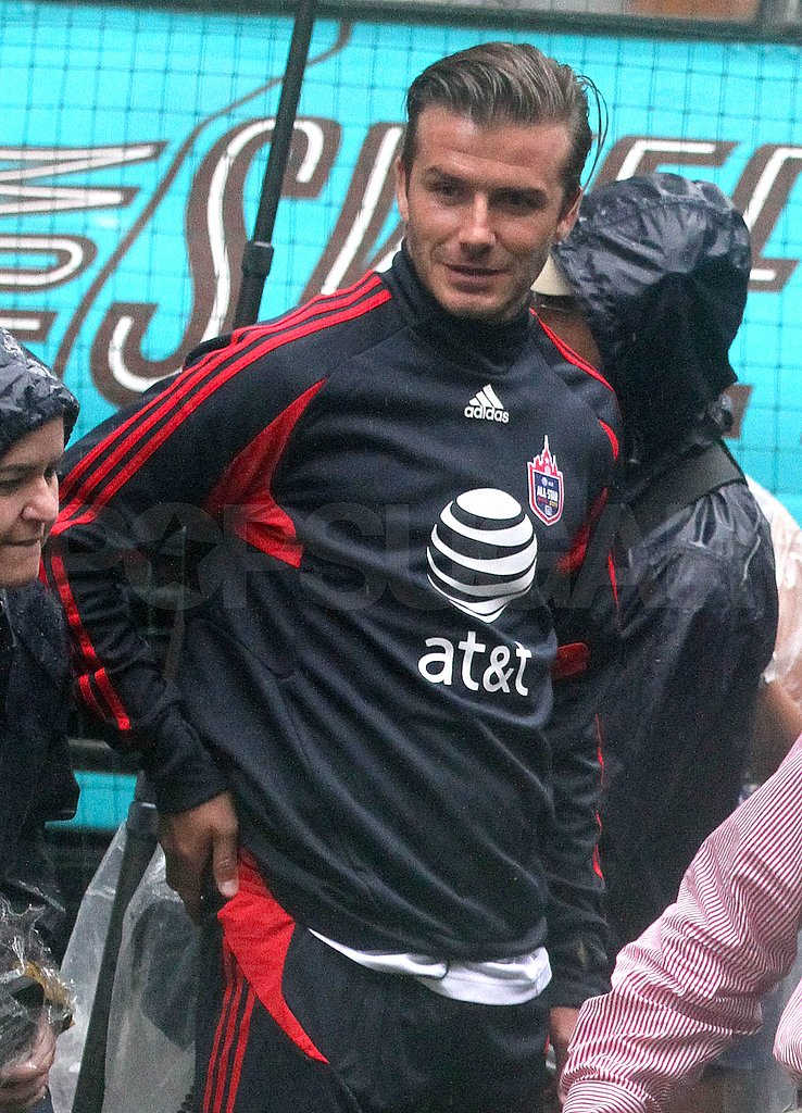 David Beckham was happy to join fans at the MLS event.