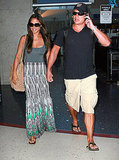 Nick Lachey and Vanessa Minnillo home again.