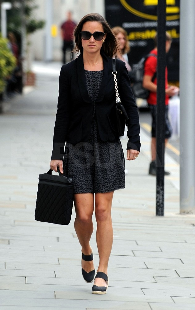 Pippa Middleton goes to work in London.