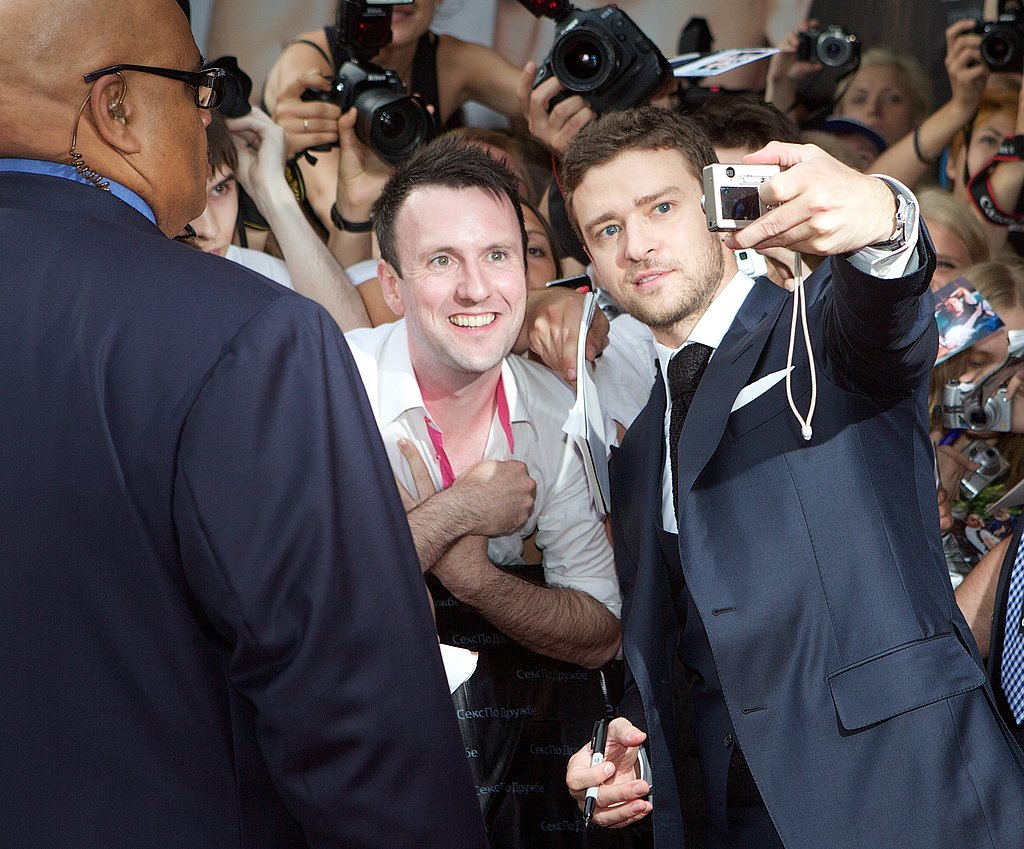 Justin Timberlake snapped a picture with a fan.