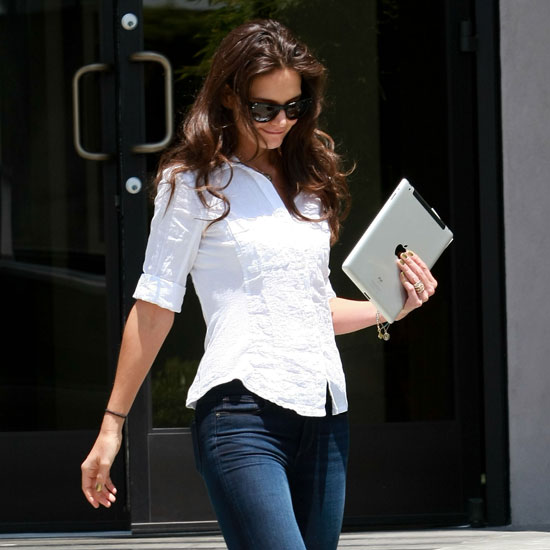 Katie Holmes stepped out solo after a business meeting in LA.