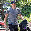 Jake Gyllenhaal Pictures in Workout Clothes in LA