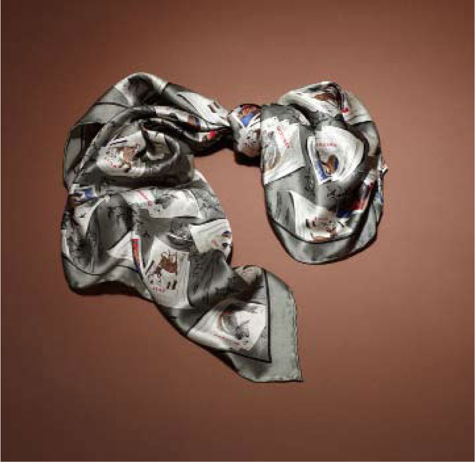 Silk Square Scarf, $39