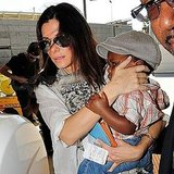 Sandra Bullock and son Louis Bullock in California.