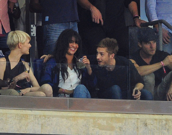 Jesica Szohr watches the MLS All Star game.