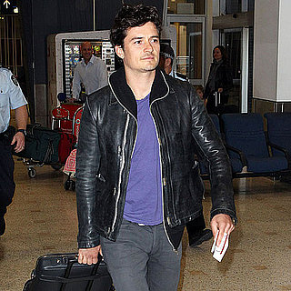 Orlando Bloom Landing at Sydney Airport
