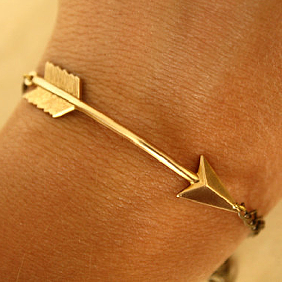 Iadornu Gold Arrow Bracelet, $20