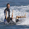 David Beckham Surfing Pictures With Brooklyn