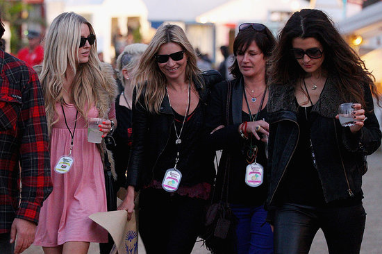 Kate Moss Finds New Girlfriends at a Festival With Jamie Hince