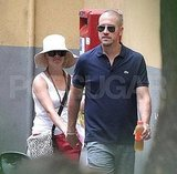 Reese Witherspoon and Jim Toth shop in Italy.