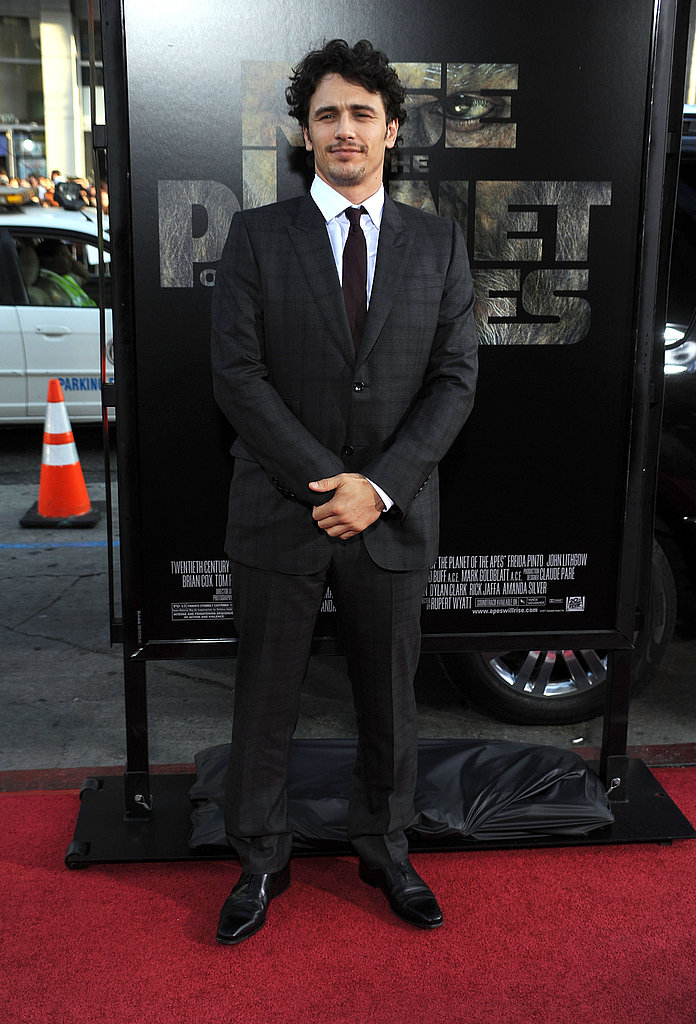 James Franco posed on the red carpet.
