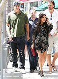 Kris Humphries and Kim Kardashian were joined by friends during their meal.