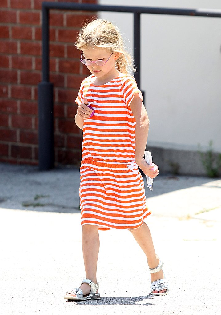Violet Affleck in a cute dress.